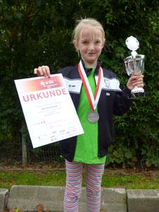 Ida Horeis erreichte den 2. Platz von 80 Kinder in ihrer Altersgruppe