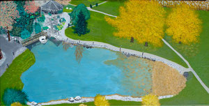 Parkhotel/Zurzach mit Umgebung - Painting Sepp