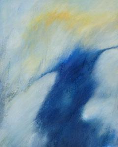 le printemps au ciel des larmes | 100 cm x 80 cm | 2004 | Acryl auf Leinwand | © Hansjörg Zimmer