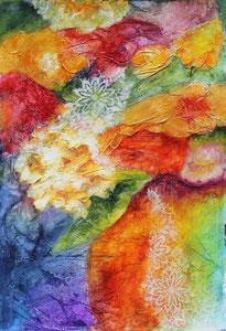 "Summer Blooms  watercolor  16"" x 12""  $225"