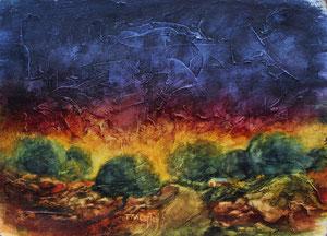 """Rocky Plains  watercolor  12"""" x 15""""  $135"""