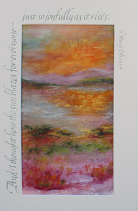 "The Sun Blazes  watercolor  12"" x 8""  $105  SOLD"