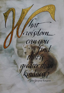 "Kindness  watercolor/gilding 15"" x 12"" $235"
