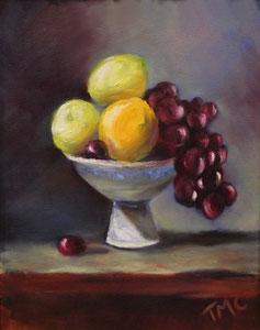 """Fruit Bowl  oil  14"""" x 11""""  $280"""