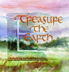 """Treasure the Earth  watercolor  8"""" x 8""""  $85"""