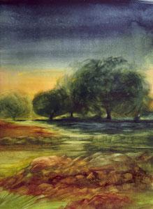 "Stony Brook watercolor  18"" x 14"" $245"