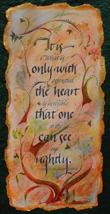 "Only with the Heart  watercolor  20"" x 12""  $235"