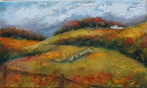 """Fall in the Foothills  oil  6"""" x 10""""  $150"""