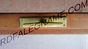 Maniglia Porta-Finestra Vecchia Milano in Ottone