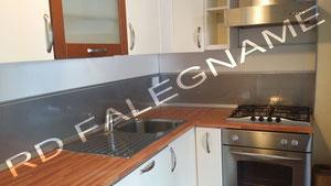 Rivestimento Cucina in Acciaio Inox, Alzatina e Angolari ...