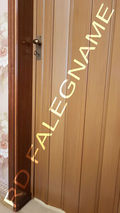 Porta a Soffietto in PVC (Plastica) Tinta Teak - Pomolo e Serratura Bronzo