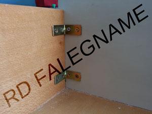 Cassetto in Legno con Angolari interni di Rinforzo