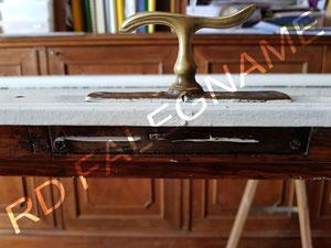 Porta-Finestra con fissaggio piastra maniglia e cambio del meccanismo
