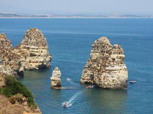 Portugal, Algarve, falaise de Lagos