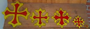 Modèles Croix Occitane de toutes dimensions