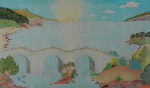 die Brücke zurück ins Leben, Seide, Familien Bild, als Repro
