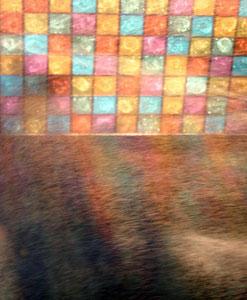 plafond et brumes colorées