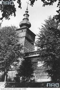 Kwiatoń. Drewniana cerkiew greckokatolicka św. Paraskewii. Foto z archiwum NAC