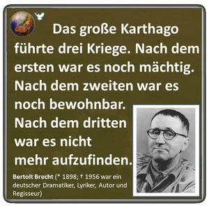 Friedenszitat von Bertold Brecht