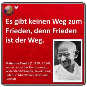 Friedenszitat von Mahatma Gandhi