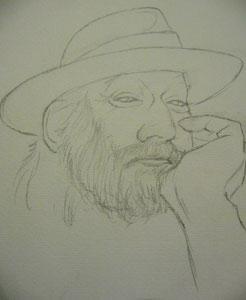 unfertige Skizze meines Jugendfreundes Roland Neuwirth