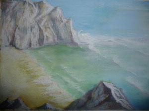Pastellkreide Meer
