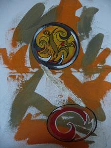 mein erstes Acrylbild enstanden in Susannes Atelier