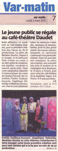 Article de Var-matin du 02/03/2015