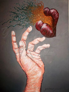 """Portal mágico"" Yair Medina, acrílico sobre lienzo, 18x24 pulg. 2012."