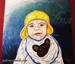 """Eden"" (Vendida-Sold) Yair Medina, acrílico sobre lienzo, 70x70 cm aprox., 2014."