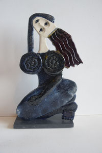 VENDU Sculpture femme contemporaine Pépette point com Zaza N° 18 H29X17CM