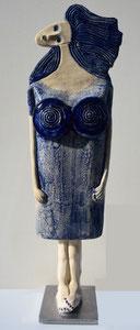 VENDU Sculpture femme contemporaine  Grande Pépette point com N 34 H53X15CM
