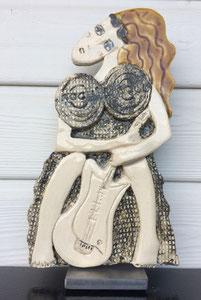 114 Sculpture femme contemporaine Pépette . com Rock N'Roll 30X17CM disponible