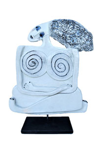 31 Sculpture femme contemporaine AU YOGA 33X27CM disponible