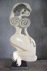 Sculpture femme contemporaine VENDUE Pépette point com N° 2 H34X14CM