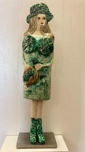 VENDU Sculpture femme contemporaine  Pépette point com à la Marée N° 63 H54X15CM