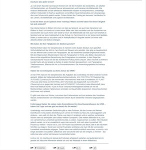 Interview der VWA Verwaltungs- und Wirtschaftsakademie II.