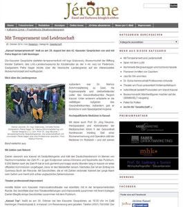 Jérome Magazin - Kassel und Kurhessen königlich erleben Oktober 2014