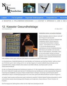 Nordhessen Rundschau März 2015 - Kasseler Gesundheitstage