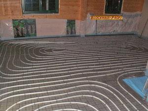 Blockhaus mit Fußbodenheizung in Brandenburg - Blockhaus Profi