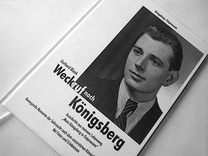 """Buchtitel """"Weckruf nach Königsberg"""", gebundene Ausgabe, Hardcover, kaschiert, runder Leserücken"""