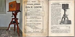 Il mio Banco Ottico, il Catalogo FOTOMATERIALE 1909 di Mario Ganzini di Milano e la pagina descrittiva dell'articolo