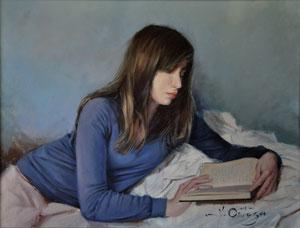 La Joven Lectora. Óleo sobre tabla, 60X46