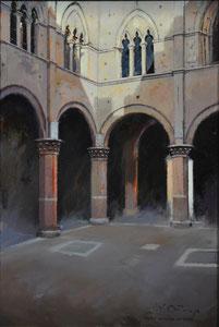 Palacio Comunal de Siena. Óleo sobre lienzo, 55X38