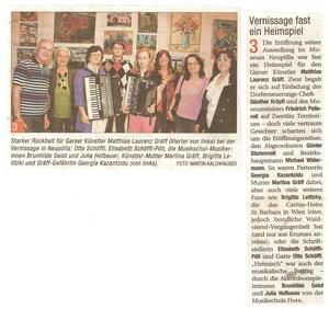 Ausstellungsbericht in der NÖN Horn (Woche 19) Copyright by Martin Kalchhauser