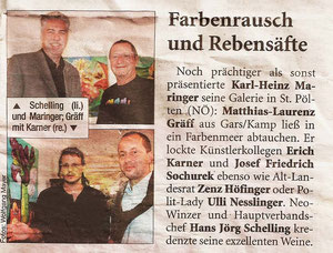 Pressebericht Matthias Laurenz Gräff, Galerie Maringer in der Heute-Zeitung
