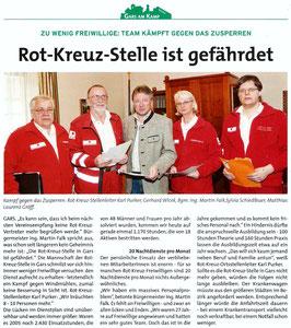 Bericht im Garser Kulturbrief, Folge 2, Frühjahr 2013, Copyright by Marktgemeinde Gars am Kamp