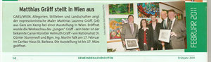 Ausstellungsbericht in den Garser Gemeindenachrichten (Folge 1, Frühjahr 2011)