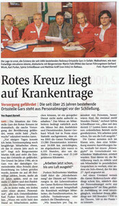 Bericht in der NÖN Horn (Woche 10) Copyright by Rupert Kornell, Gräff ganz rechts