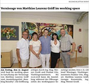 Pressebericht in den Bezirksblättern Horn (Woche 35)